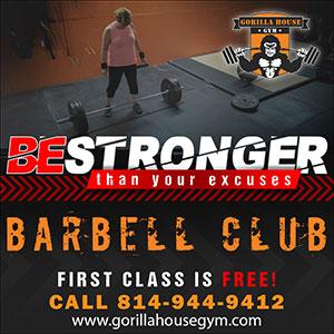 Gorilla House Gym Barbell Club