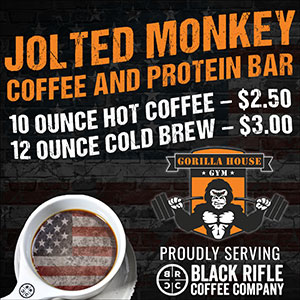 Gorilla House Gym Jolted Monkey Coffee Bar