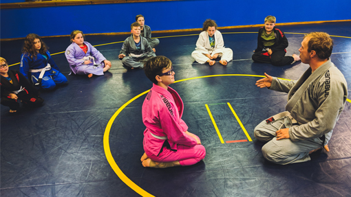 In our Kids Jujitsu Youth Martial Arts Program students will learn self-defense techniques, conditioning and skill oriented drills aiming to improve your child's motor skills, agility and flexibility.